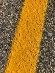 road line painting