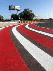 California racetrack painting