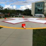 Helicopter pad painting