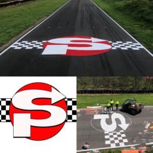 Race track branding