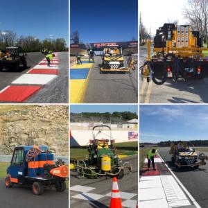 Road painting machines