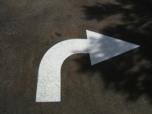Parking lot arrow