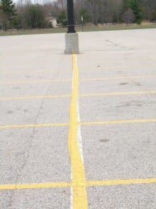 Parking lot striper
