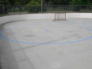 Hockey rink painting